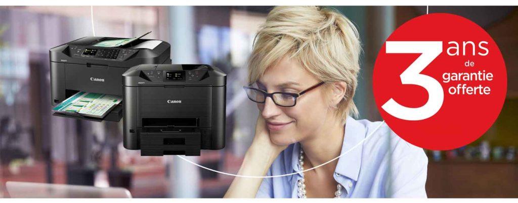 Canon Maxify garantie 3 ans offerte